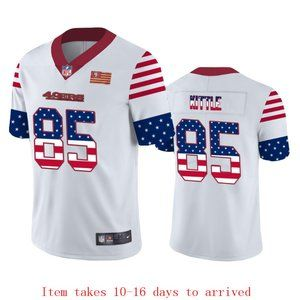 49ers #85 George Kittle Jersey Independence Day